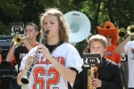 clarinet player marching
