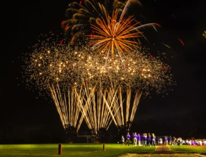 Not a lot of fireworks on the field, but nice firework show following Blair Homecoming football game Friday night,