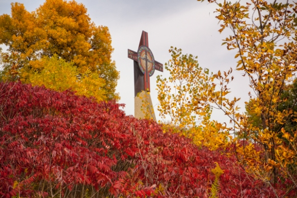 Neiardt tower and foliage