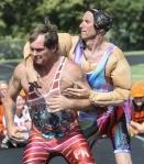 men in wrestling costume