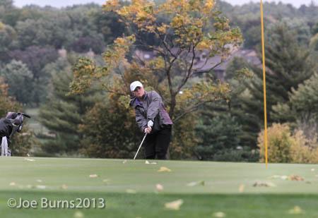 girl golfing