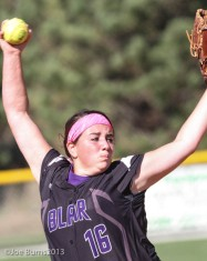 girl pitching