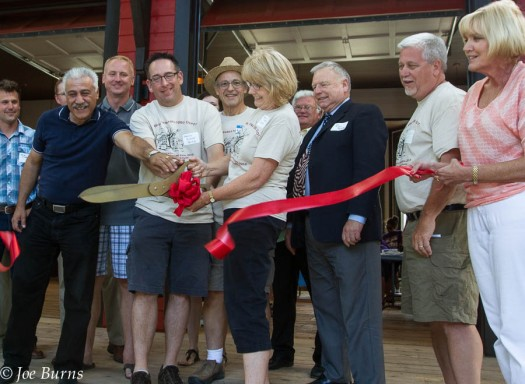 City Council   and Historic Preservation Alliance members cut the ceremonial ribbon.