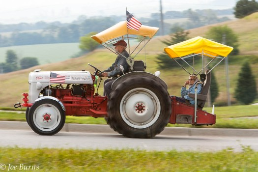 Tractor ride over hill and dale is a highlight of Tractors Tall and Small  festival.