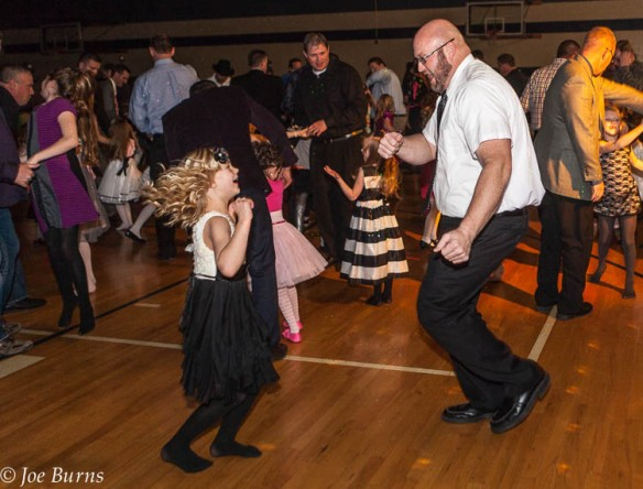 "Chloe and Justin Hoberman ""celebrate and have a good time"" at the Father Daughter dance"