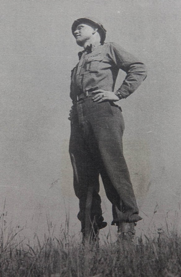 Snapshot of Roy Long following the end of World War II in Europe.