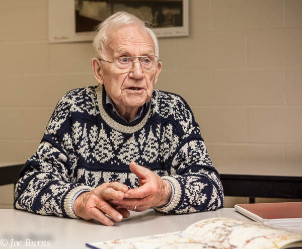 Blair native and Omaha resident Roy Long talks with Leeanna Ellis and Joe Burns about  liberating a concentration camp during the last days of World War II.