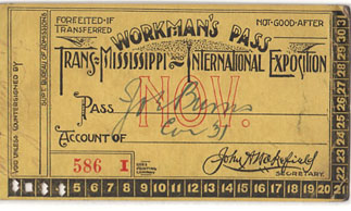 Workman's pass issued to Joe  M. Burns