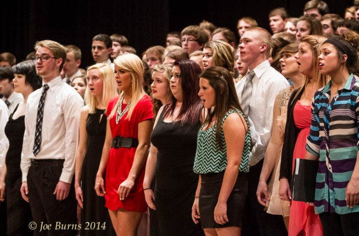 Combined choirs