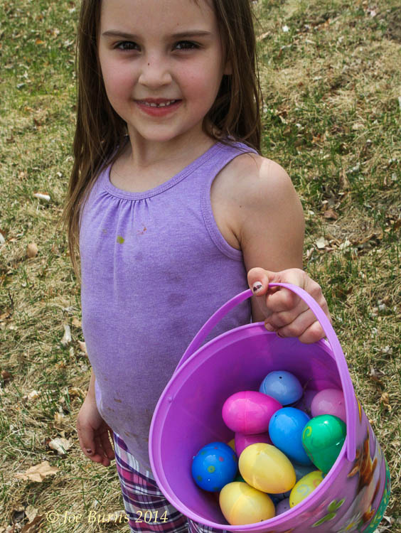 Allayna Willimasen show of her collection of Easter eggs.