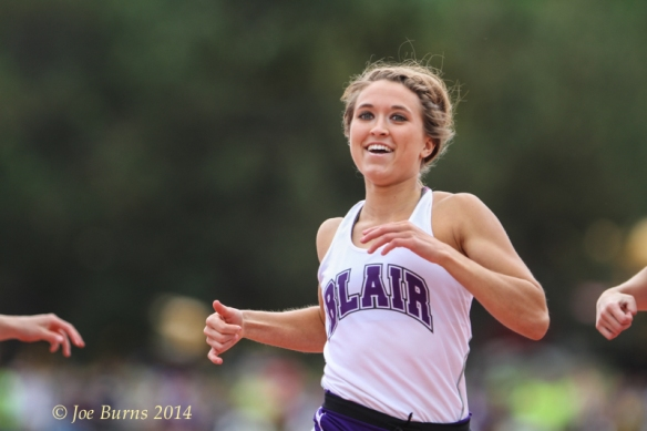 Morgan Anderson was all smiles as she crossed the finish line with  state  title in the  Class B 100-meters final.