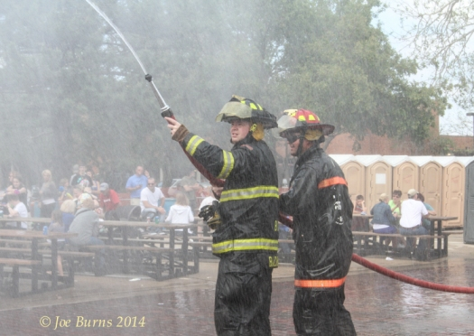 Blair fire fighters Blair Randy Backman, Nick Faue