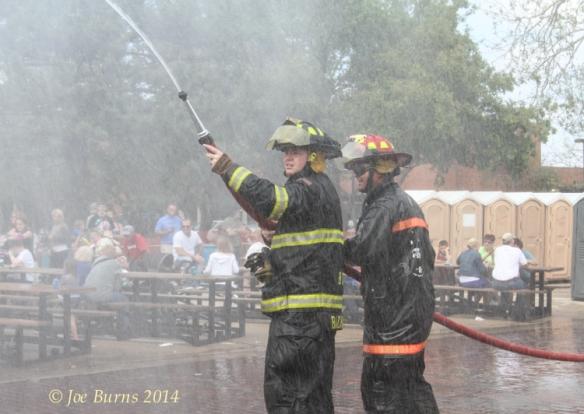 Blair fire fighters Blair Randy Backman, Nick Faue