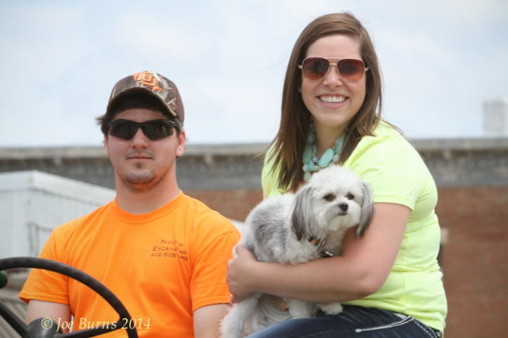 Adam Hodson, Whitney Taylor, with Daisy (dog)