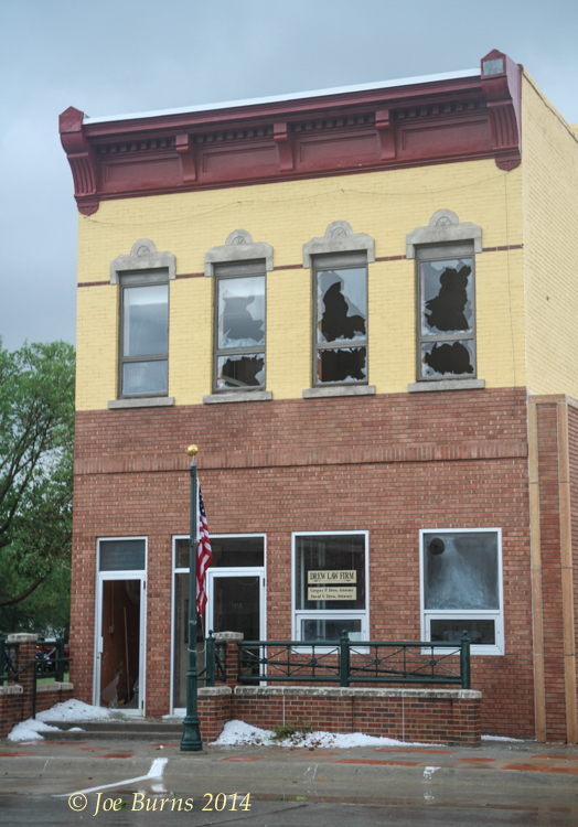 Drew Law office  along Washington Street shortly after the hails storm on Tuesday, June 3, 2014.
