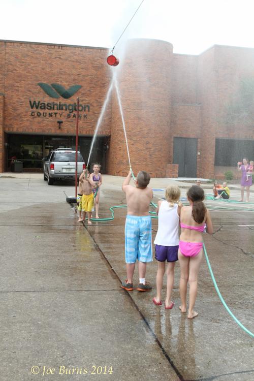 Kids water fights