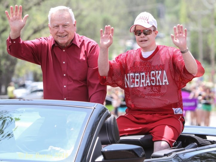 Mayor Jim Realph with son.