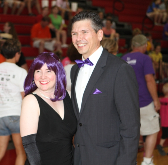 Orfa and David Link served as Masters of Ceremony for the Relay opening program.
