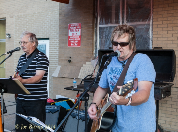 Ten Gallon Hippie performs in the Beer Garden on Saturday following the water fights.