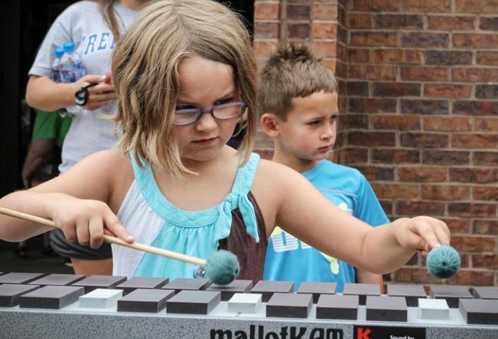 Sydney Miller plays an electric marimba.