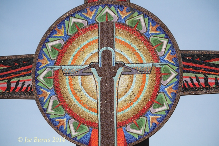 Close up view of center of the the Tower mosaic.