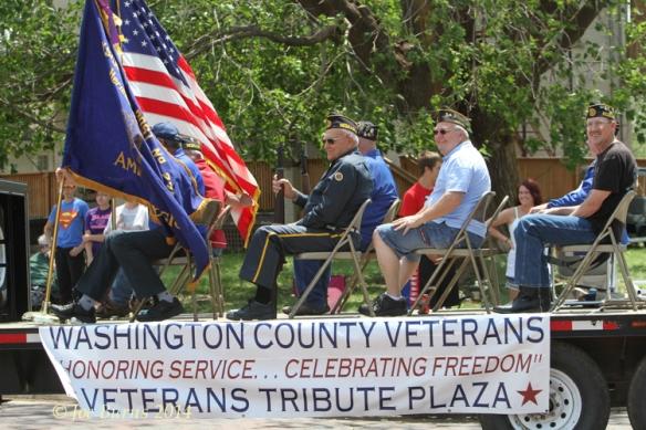 Washington County Veterans float