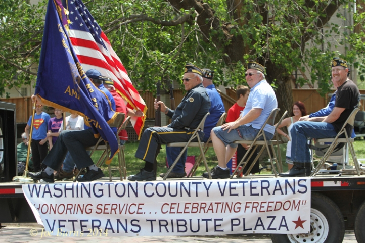 Washington County Veterans float