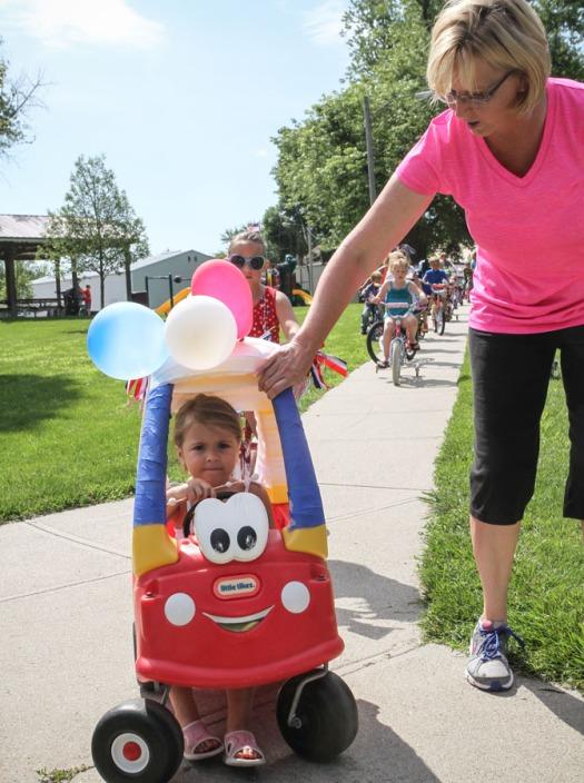 Summer Sizzle kiddie parade.