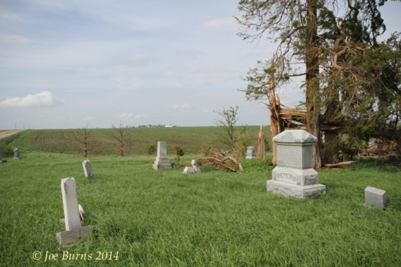 East Admah cemetery storm damage.