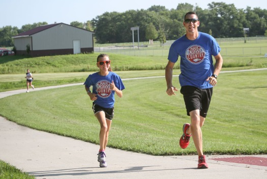 John Morison and daughter Elizabeth compete  in the 5k.