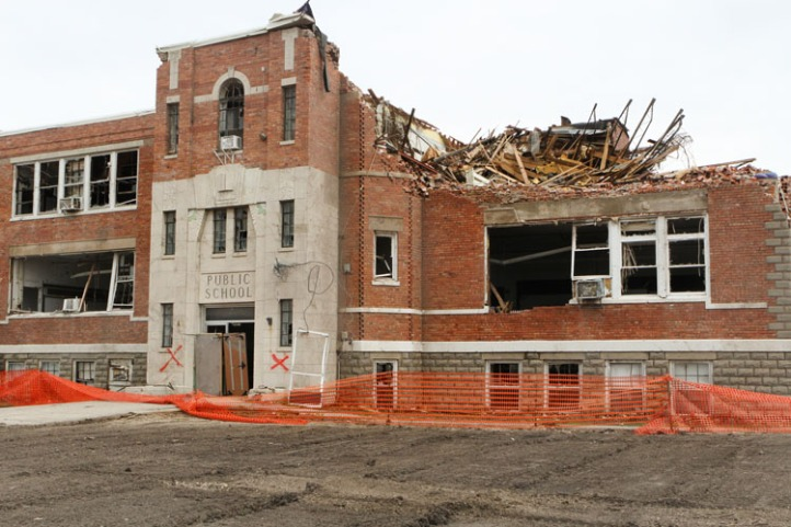 The Wisner-Pilger Middle School was badly damaged during the June 16 tornado is scheduled to be demolished.