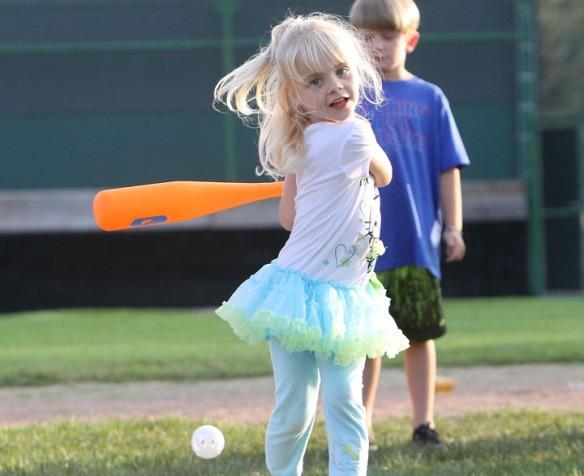 Amelia Boswell takes a big swing.