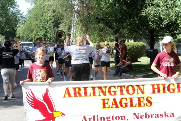 Arlington Band leads the Fair parade.