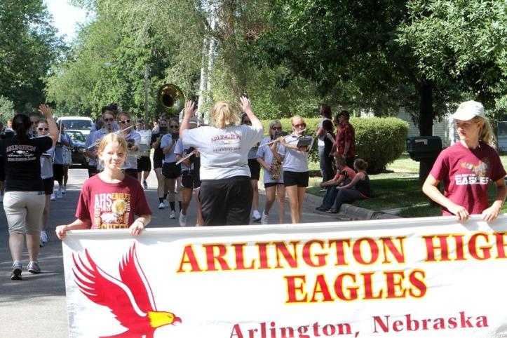 Arlington Band leads the Fair parade.