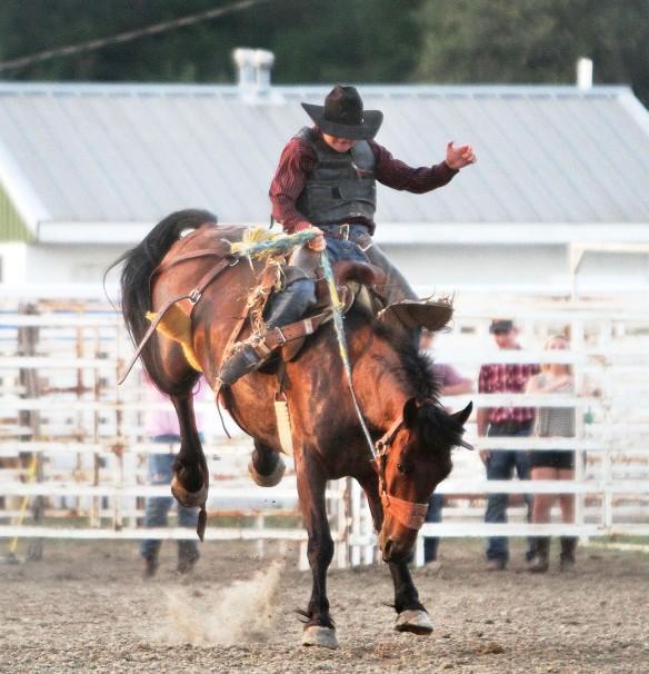 Drew Spencer, Saddle Bronc Riding Friday.