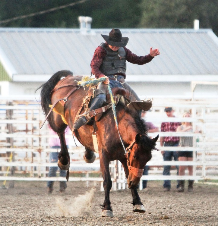 Drew Spencer, Saddle Bronc Riding Friday.