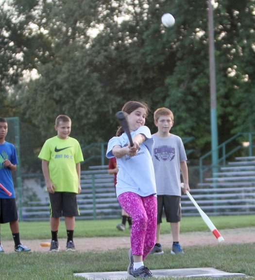Jenna Murch-Shaffer gets a hit.