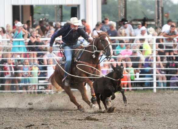 Marshall  Peterson calf roping.