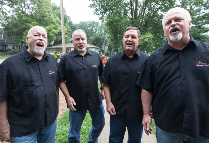 Omaha :Prime Barbershop Quartet strolled through the event venues singing a variety of numbers.