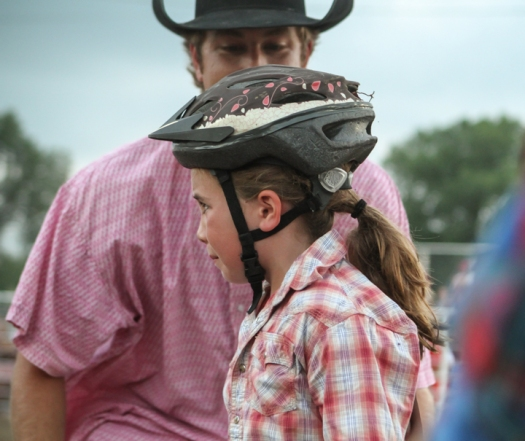 No crying in mutton busting.