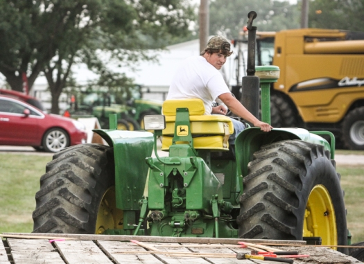 Kolton Smith competes in Tractor driving contest