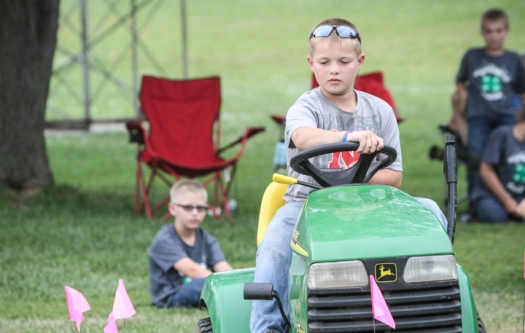Tractor driving competition.
