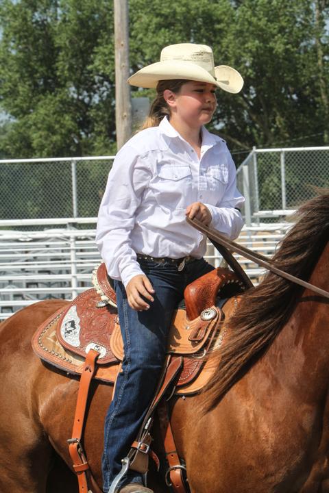 Bailey Blackford, 4 H Western Trail riding.