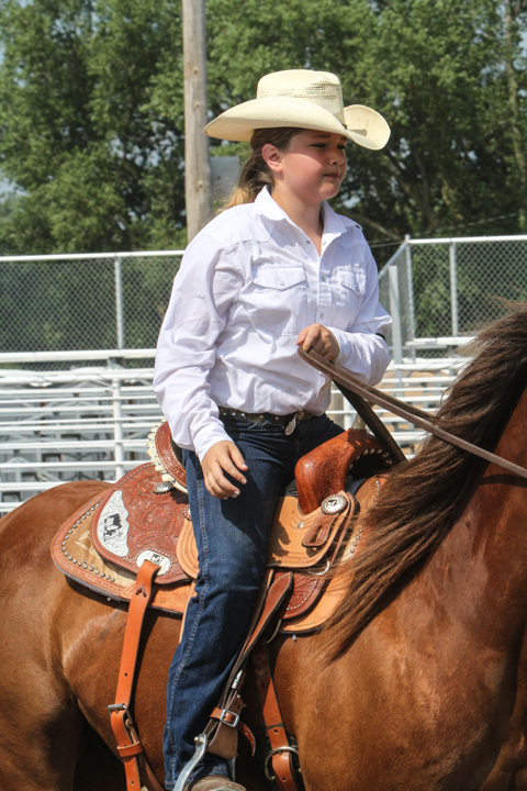 Bailey Blackford, 4 H Western Trail riding.