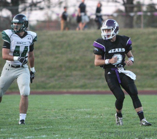 Sophomore Ethan Cox leads Bears to 45-28 upset win over Skutt Catholic.