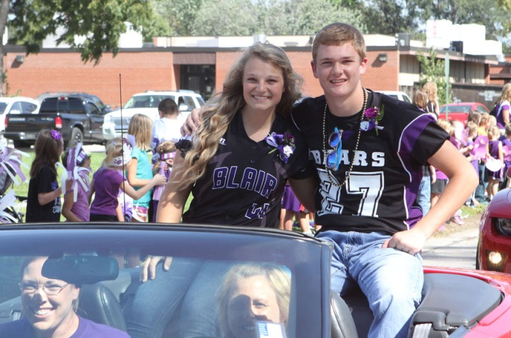 Homecoming candidates Natalie Rech and Vance Janssen