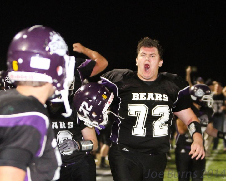 Colton Gayer pumped after big play.