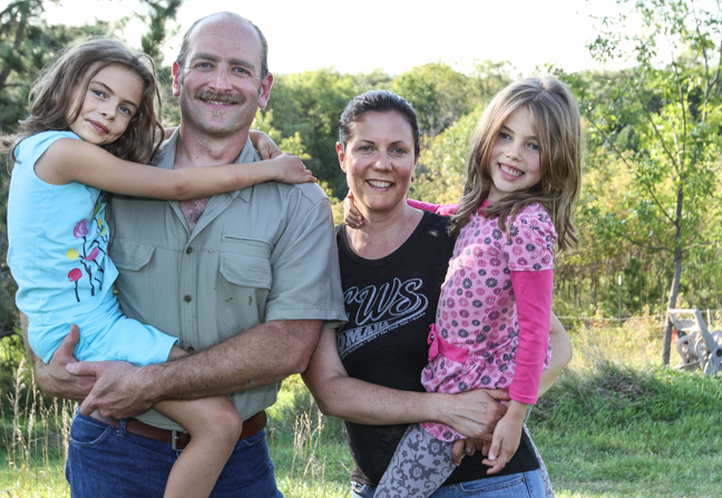 Ben and Michelle with their daughters, Isabel, 7, and Clara, 6.
