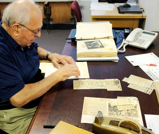 George Madsen drives from Omaha to volunter at the Archive.