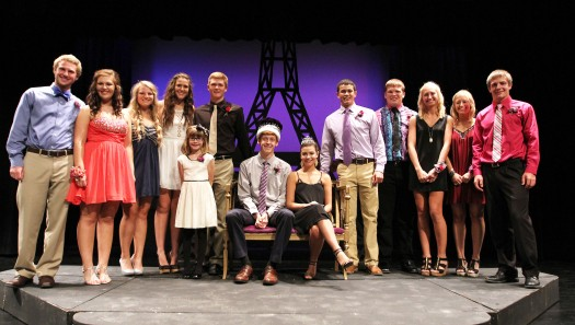 Ryan Moundt and Easton Fielding were crowned Blair High School's homeoming king and queen.